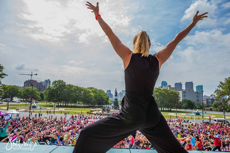 Outdoors and Fully Alive  - Yoga On The Steps for Living Beyond Breast Cancer  May 2015